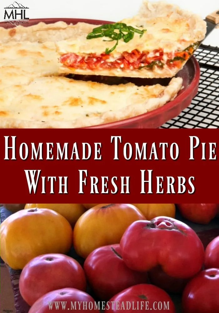 Homemade Tomato Pie With Fresh Herbs
