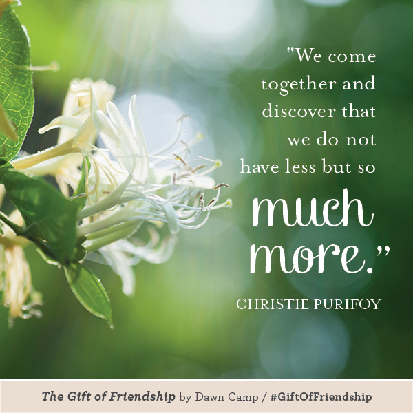 Christie Purifoy The Gift of Friendship #GiftofFriendship