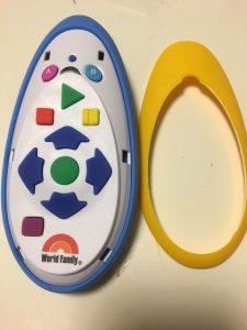 子ども用リモコン表蓋を取った状態