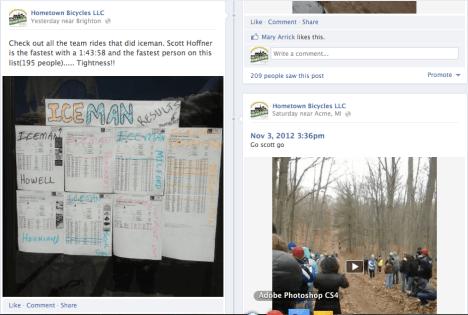 Hometown Facebook screenshot