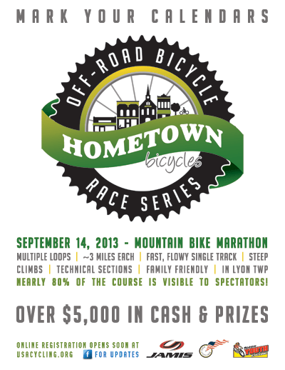 Hometown Mountain Bike Marathon -September 14, 2013