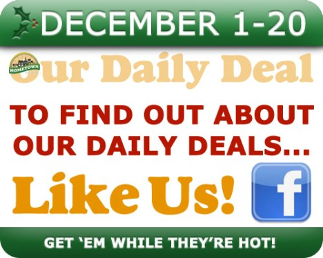 Follow Us on Facebook for Hometown Bicycles Daily Deals