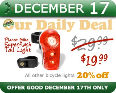 Hometown Bicycles Daily Deal December 17