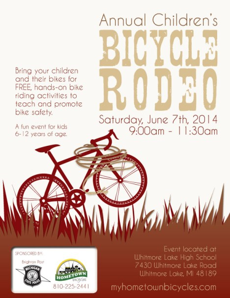 Annual Children's Bicycle Rodeo poster