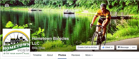 Like Hometown Bicycles on Facebook