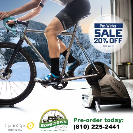 Pre-Winter CycleOps Trainer Sale promotion