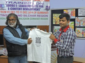 On 29 January 2015 we launched our T-shirt in Kendriya Vidyalaya NFR Maligaon school.