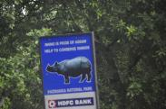 A Hoarding on the National Highway No.37 passing through Kaziranga National Park