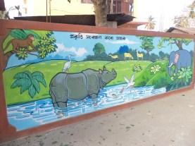 On the wall in Guwahati