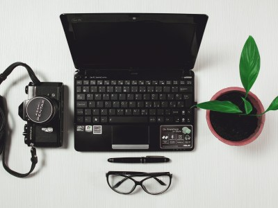 Writers computer and tools picture