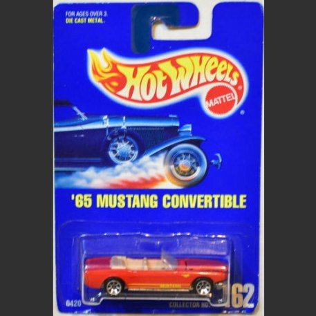 '65 MUSTANG CONVERTIBLE (red) - HW 1991