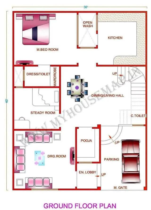 30*40 house plan