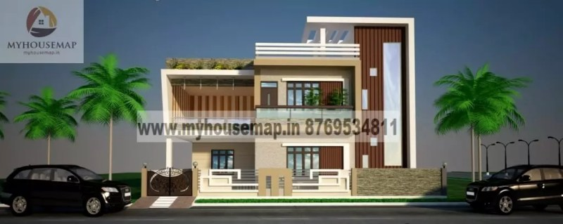 front elevation of house in india