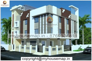 3 floor elevation house design