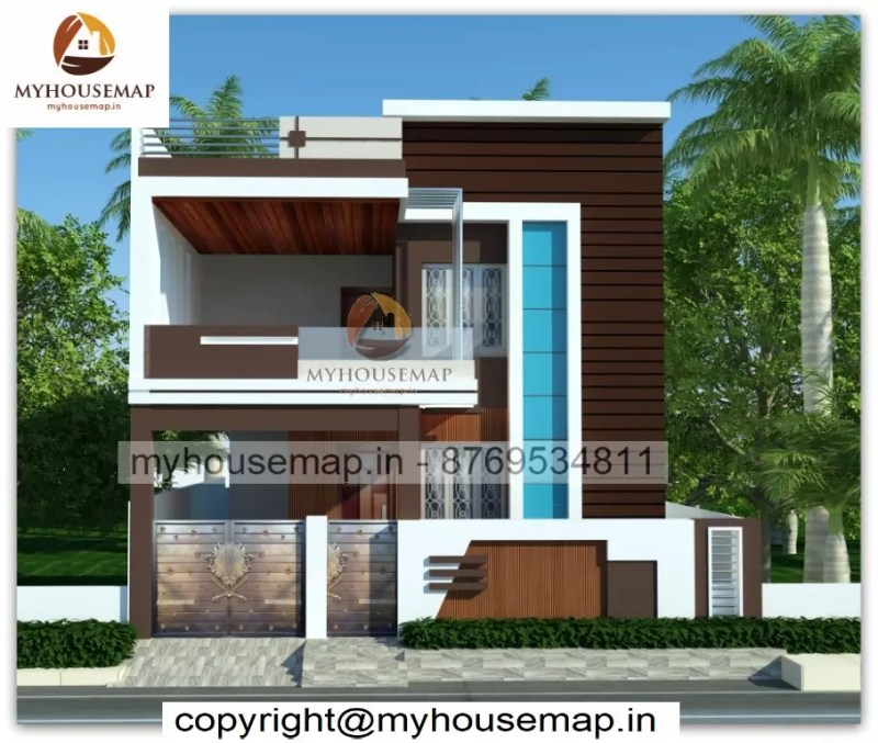 Front elevation double story house