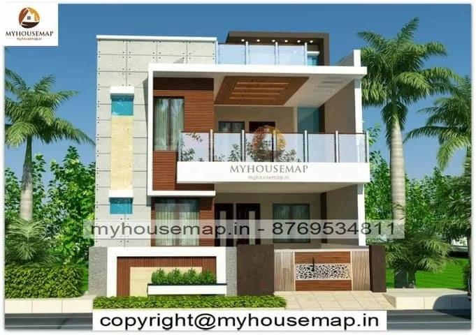 Latest modern house front elevation design
