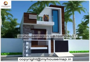 Simple 3d front elevation design