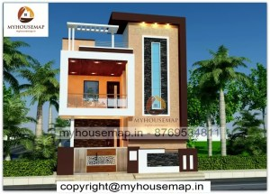 home elevation 2 floor design