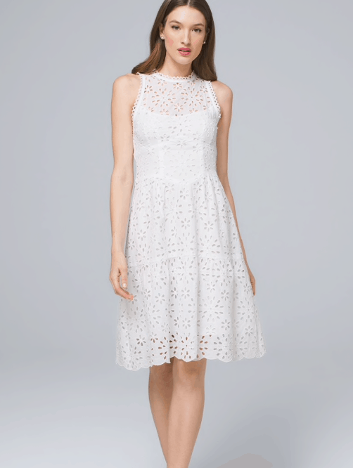 f7ab304beb9 White House Black Market. I love how feminine yet structured this White  Eyelet Dress is! Screen Shot 2019-04-25 at 4.11.55 PM.png