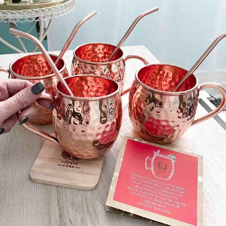 Pure Copper Mugs by Copper Cure