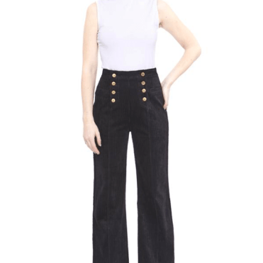 Hilary MacMillan Cord Double Button Fly Pants