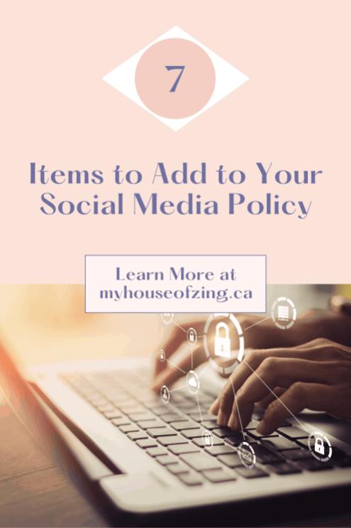 Social Media Policy Pin
