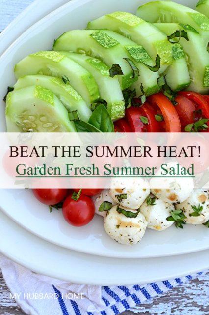 Garden fresh summer salad