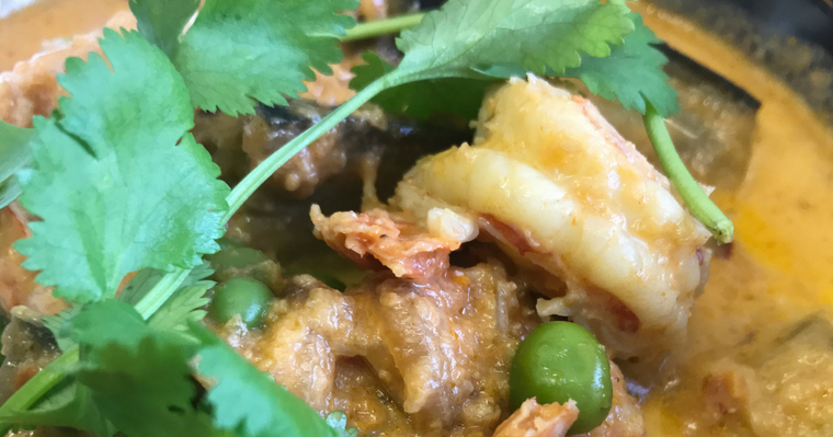 South Indian Inspired Prawn Curry