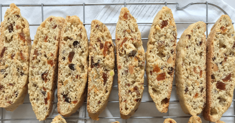 Cranberry, Pistachio and Apricot Biscotti