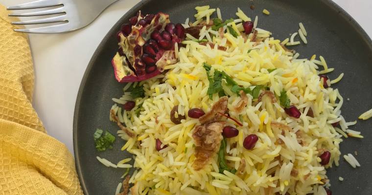 Jeweled Saffron Rice
