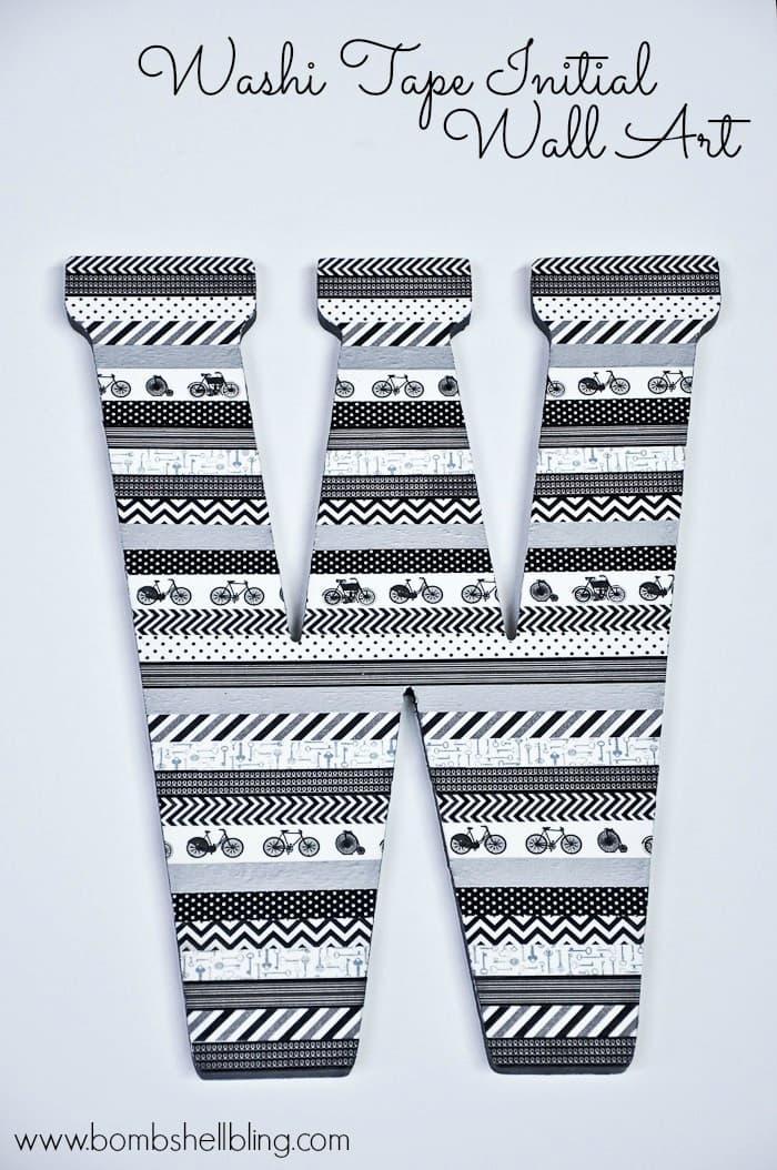 Washi Tape Initial Wall Art