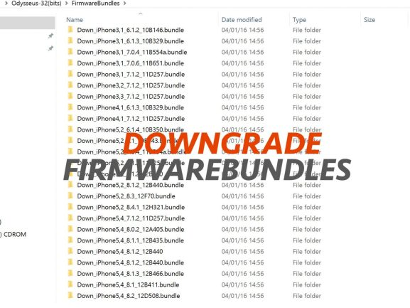 FirmwareBundles to downgrade iOS 8.4.1 iPhone5, iPhone4s, iPad2, iPad3