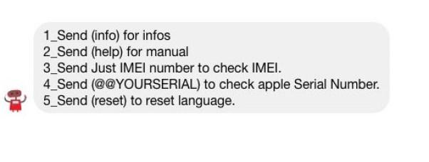 Check icloud activation status using facebook messenger
