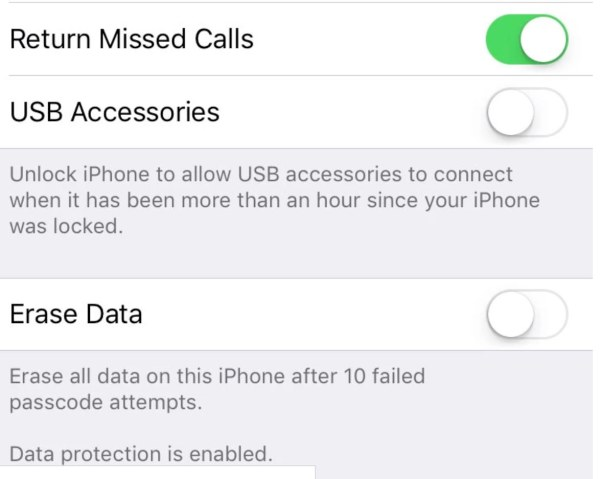 iOS12 iPhone disconnects Lightning USB to protect from hackers