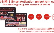 RSIM 13 Unlock Iphone iOS12 XS/8/7/6/6S 4G LTE