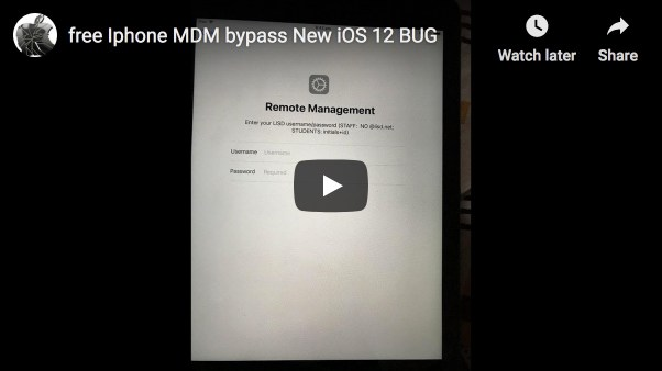 MDM Lock Bypass