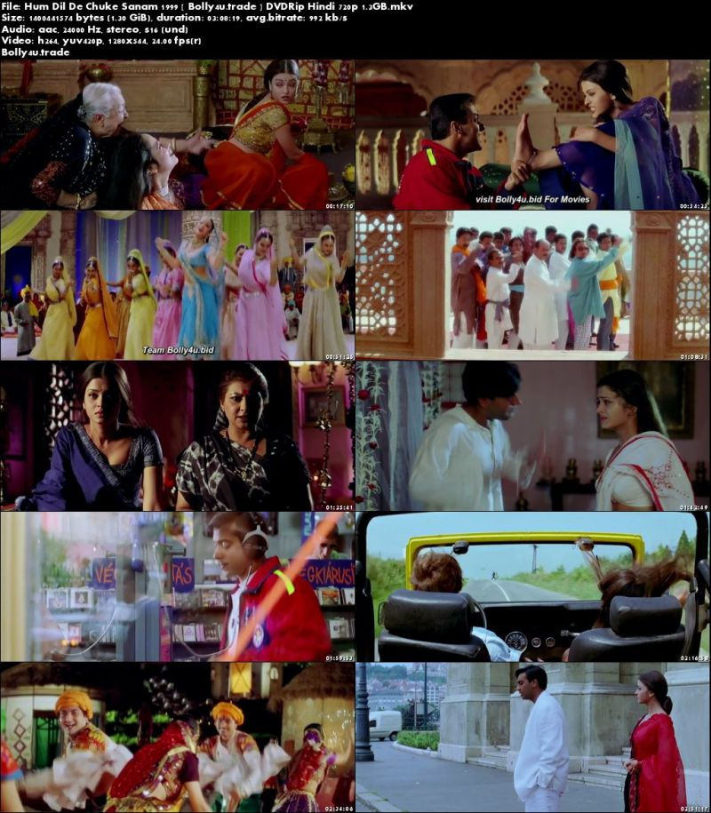 Hum Dil De Chuke Sanam 1999 DVDRip 550MB Full Hindi Movie  480p