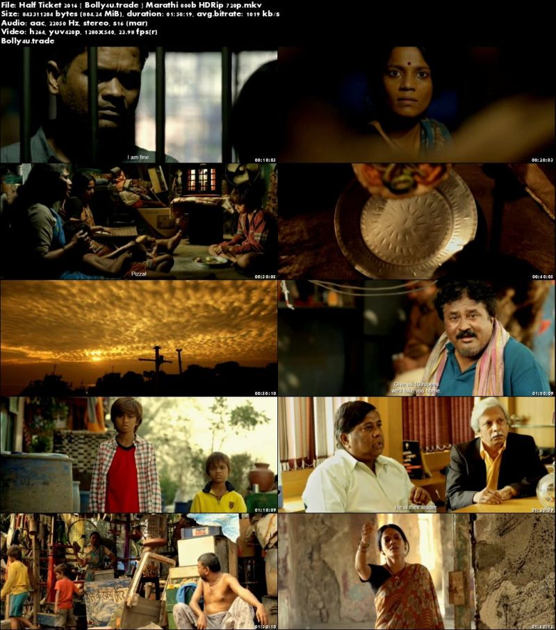 Half Ticket 2016 HDRip 800Mb Marathi 720p Download