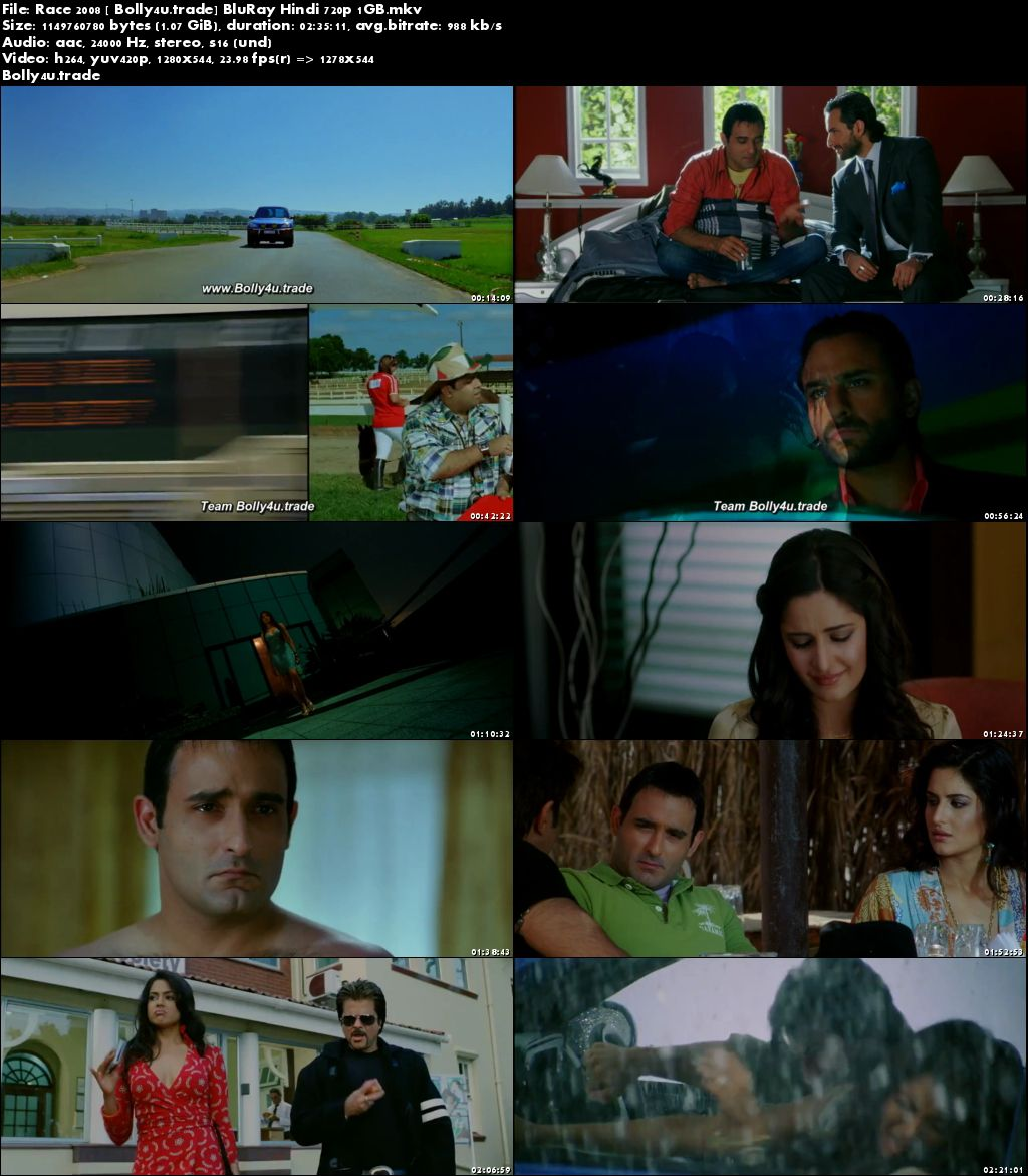 Race 2008 BluRay 450Mb Full Hindi Movie Download 480p