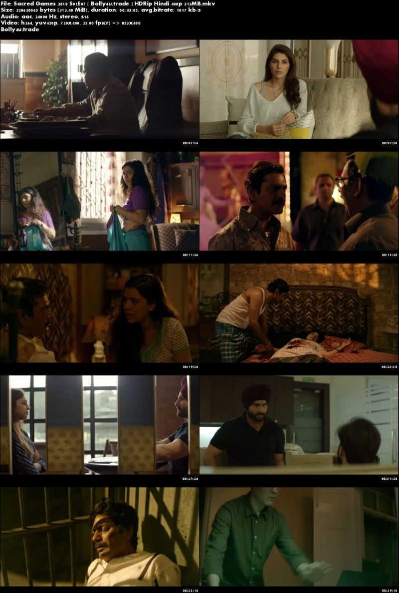 Sacred Games 2018 S01E07 HDRip 300MB Hindi 480p Download