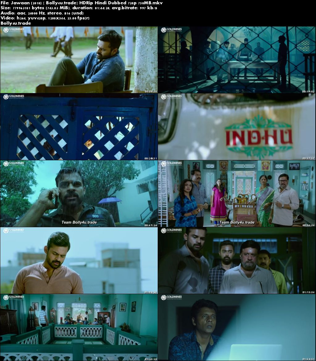 Jawaan 2018 HDRip 750MB Full Hindi Dubbed Movie Download 720p