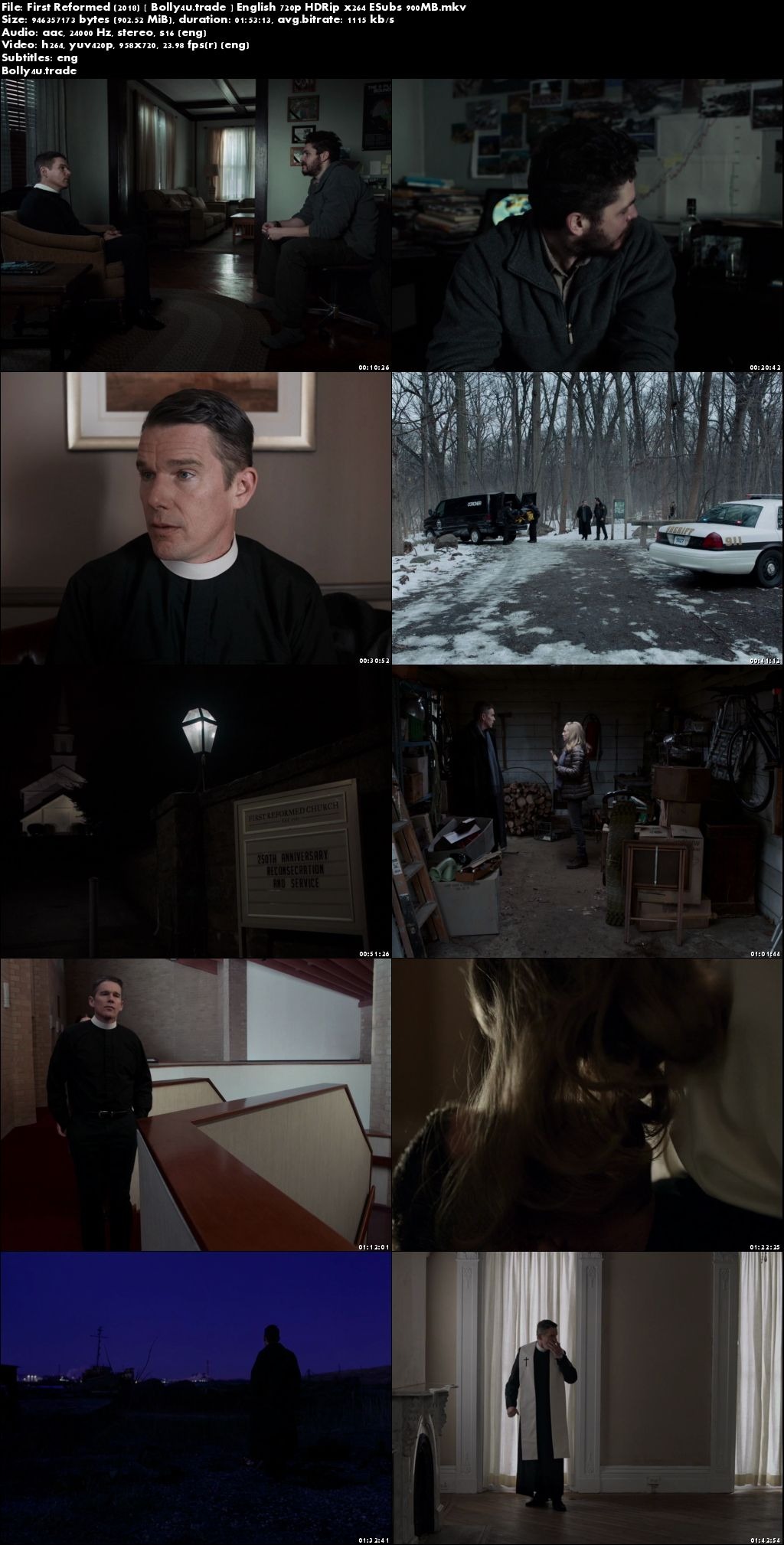 First Reformed 2018 HDRip 900Mb Full English Movie Download 720p ESub
