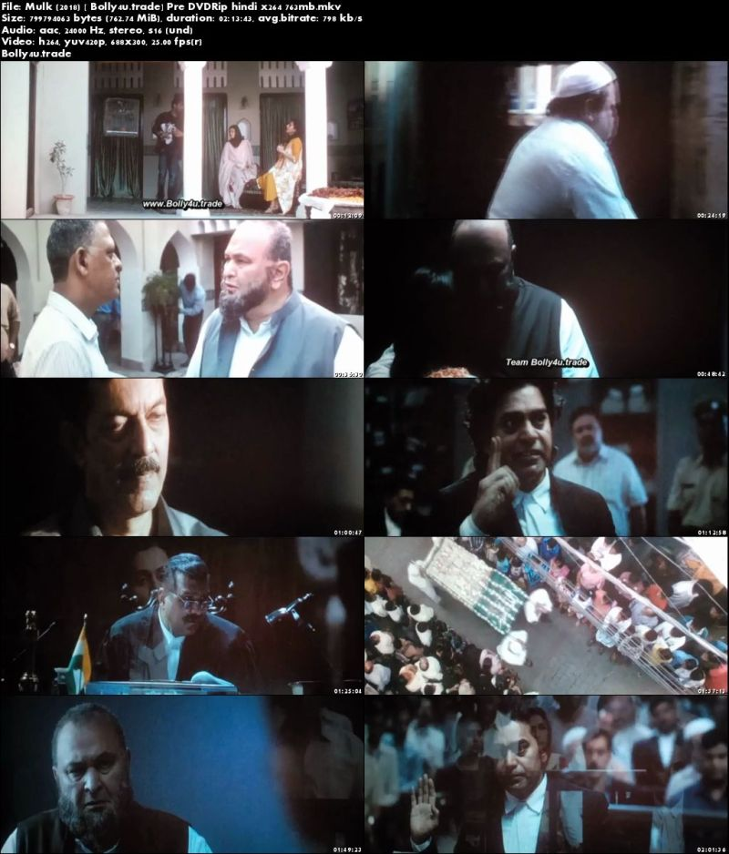 Mulk 2018 Pre DVDRip 700Mb Full Hindi Movie Download x264