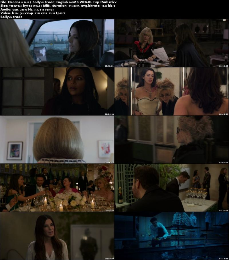 Oceans 8 2018 WEB-DL 300Mb Full English Movie Download 480p