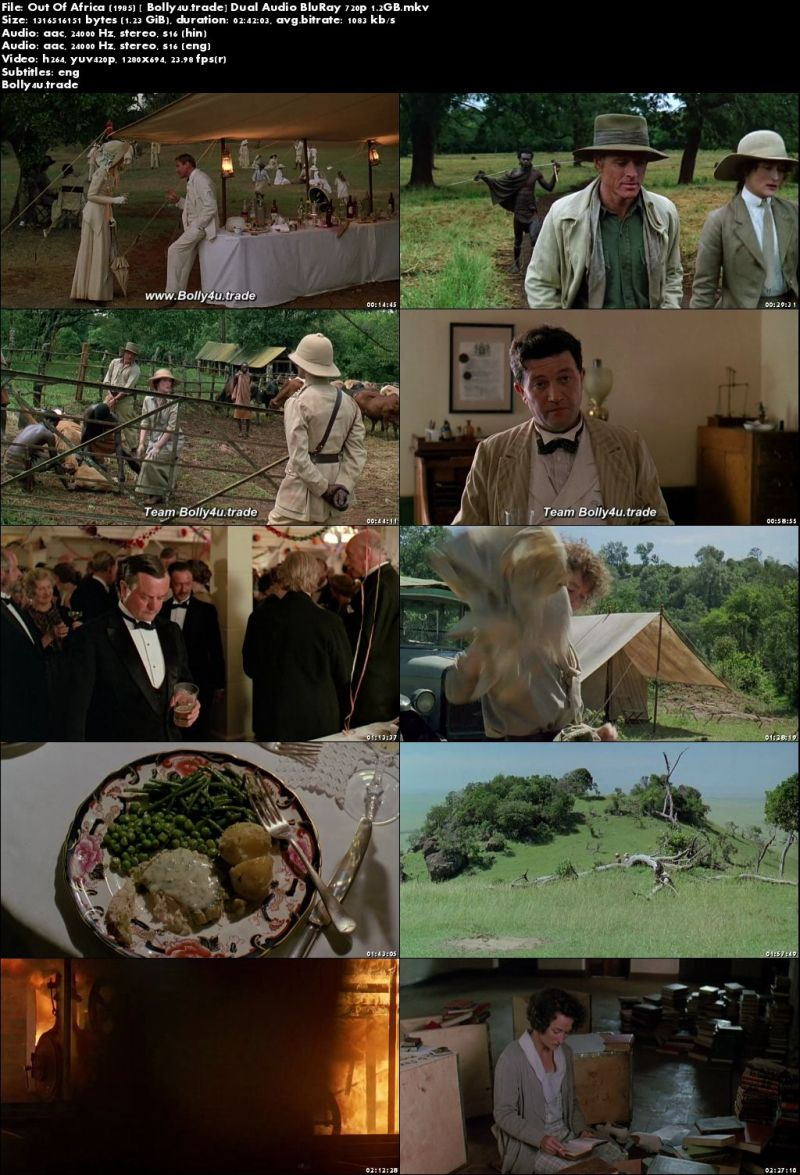 Out Of Africa 1985 BluRay Hindi Dubbed Dual Audio 720p Download