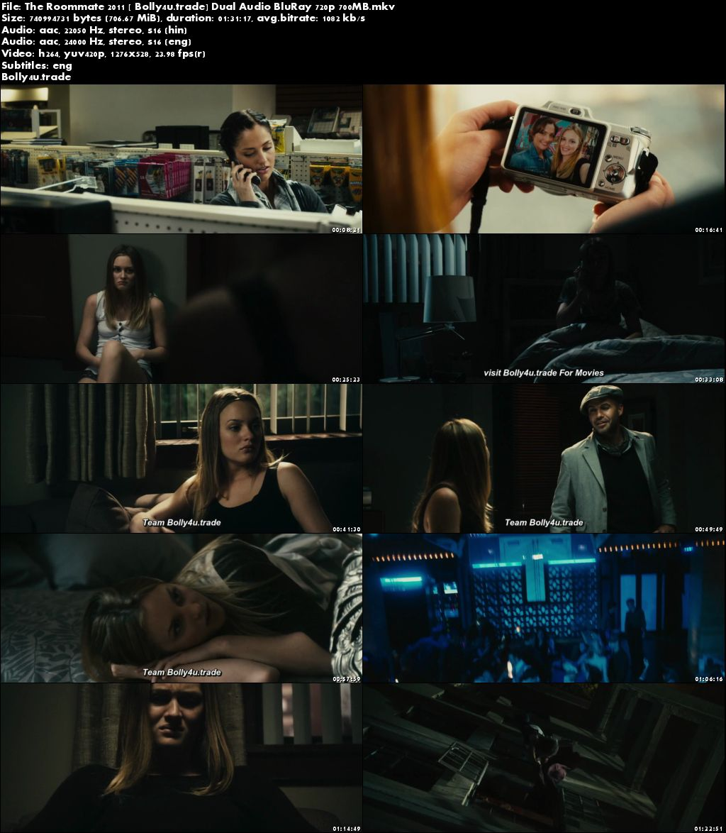 The Roommate 2011 BluRay 700MB Full Hindi Dual Audio Movie Download 720p