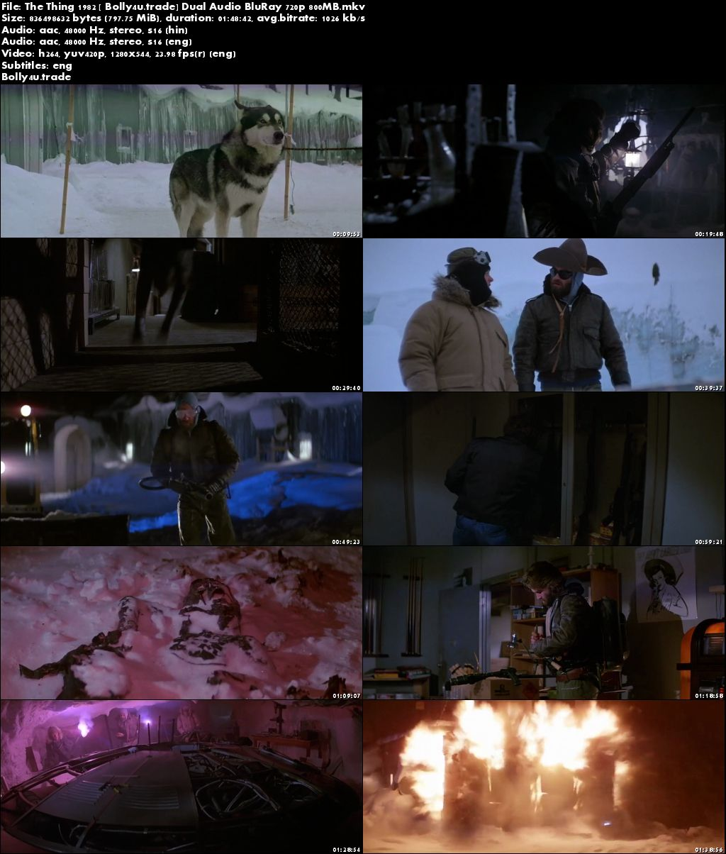 The Thing 1982 BluRay 350Mb Hindi Dual Audio 480p Download