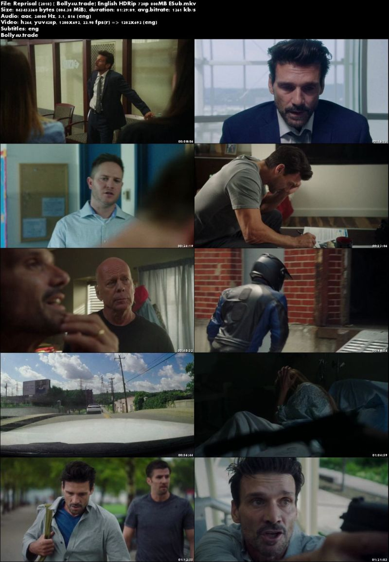 Reprisal 2018 HDRip 280Mb Full English Movie Download 480p ESub