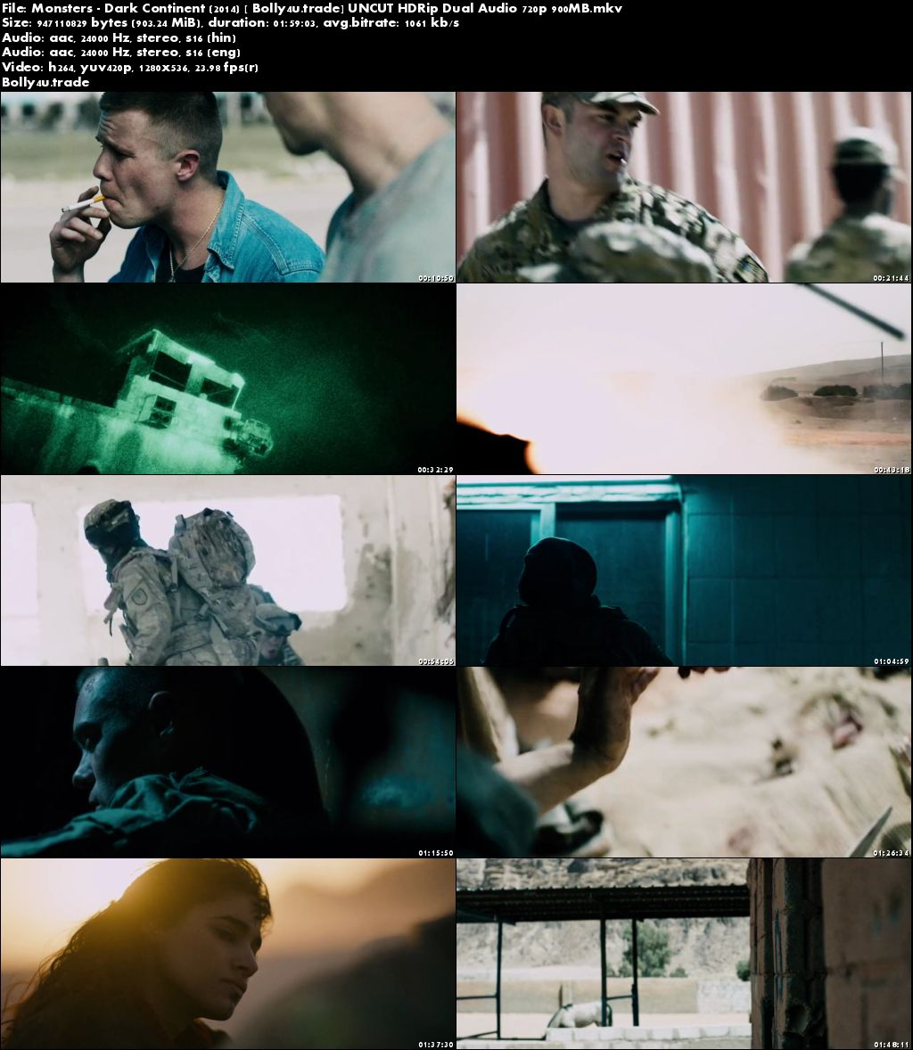 Monsters Dark Continent 2014 HDRip UNCUT 400MB Hindi Dual Audio 480p Download
