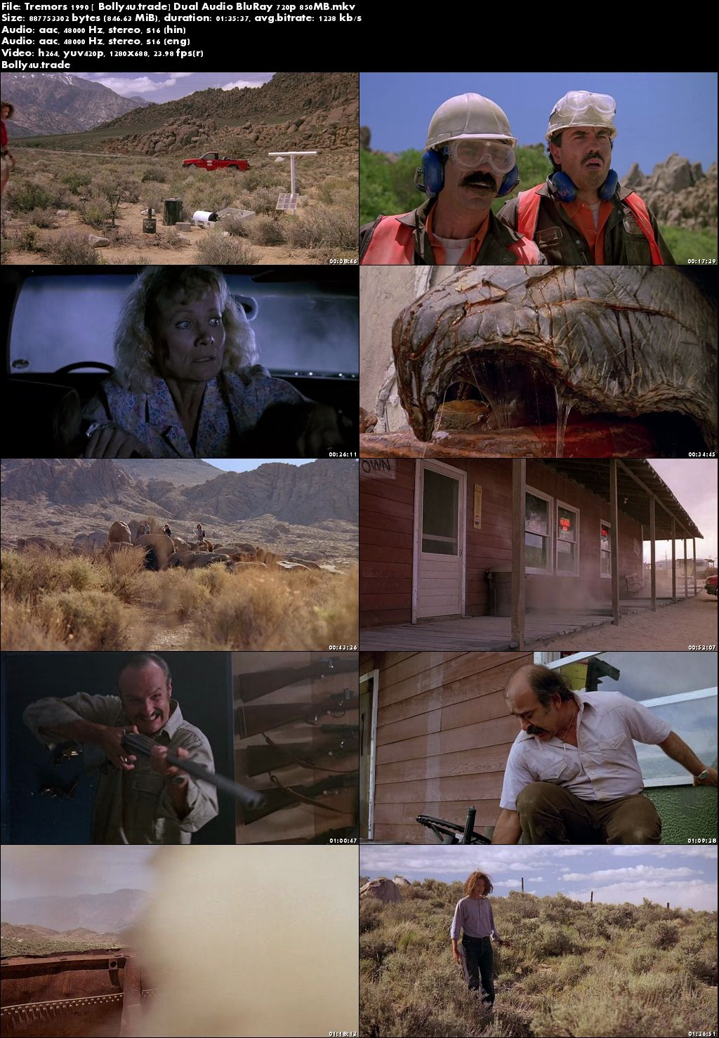 Tremors 1990 BluRay 850Mb Hindi Dual Audio 720p Download